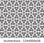 decorative vector seamless... | Shutterstock .eps vector #1244000638