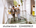 group of businessmen and... | Shutterstock . vector #1244009815
