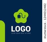 electric plug logo concept....