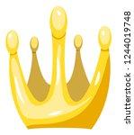 golden cartoon crown | Shutterstock .eps vector #1244019748