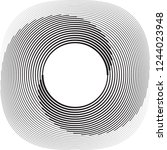 lines in circle form . spiral... | Shutterstock .eps vector #1244023948