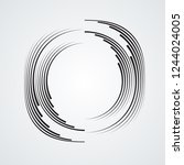 lines in circle form . spiral... | Shutterstock .eps vector #1244024005