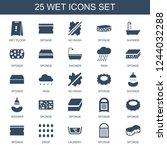 wet icons. set of 25 filled wet ...   Shutterstock .eps vector #1244032288