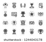 award icons. set of winner... | Shutterstock .eps vector #1244043178