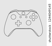 gamepad icon videogame... | Shutterstock .eps vector #1244049145