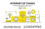 internet of things infographic... | Shutterstock .eps vector #1244049985