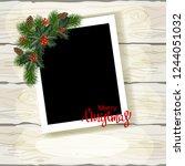 set of christmas photo frames....   Shutterstock .eps vector #1244051032