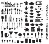Stock vector set of cutlery icons 124405222
