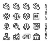 stockpile icons  vector and... | Shutterstock .eps vector #1244069335