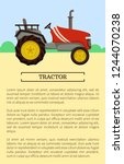 tractor poster and text sample. ... | Shutterstock .eps vector #1244070238