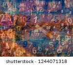 background with hours and... | Shutterstock . vector #1244071318