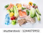 healthy eating plan. diet and... | Shutterstock . vector #1244073952