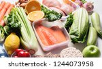 healthy eating plan. diet and... | Shutterstock . vector #1244073958