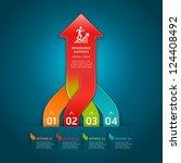 colorful modern arrow circle... | Shutterstock .eps vector #124408492