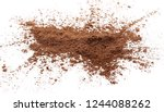 cocoa powder pile isolated on... | Shutterstock . vector #1244088262