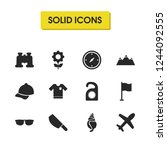 season icons set with tag ... | Shutterstock .eps vector #1244092555