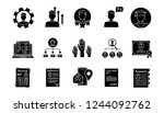 resume glyph icons set.... | Shutterstock .eps vector #1244092762