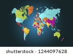 world map vector | Shutterstock .eps vector #1244097628
