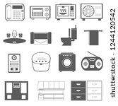 household appliances daily...   Shutterstock .eps vector #1244120542