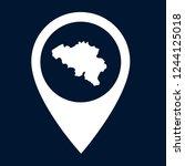 belgium map and map pin. logo...