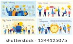 set of vector concept...   Shutterstock .eps vector #1244125075