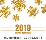 christmas  new year background... | Shutterstock .eps vector #1244132845