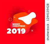 merry christmas creative banner ... | Shutterstock .eps vector #1244135428