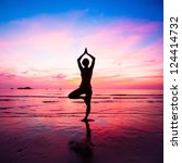 Young Woman Yoga Practice At...