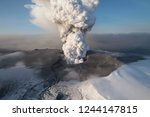 volcano eruption exposure | Shutterstock . vector #1244147815