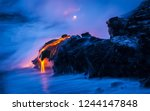 volcano eruption exposure | Shutterstock . vector #1244147848