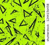 old worn  scratched vector... | Shutterstock .eps vector #1244156458