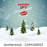 merry christmas winter magic... | Shutterstock .eps vector #1244160022