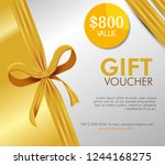 gift coupon card with special... | Shutterstock .eps vector #1244168275