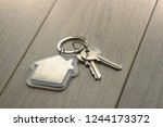keys with keychain   house... | Shutterstock . vector #1244173372