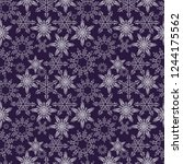 snowflakes seamless pattern.... | Shutterstock .eps vector #1244175562