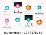 abstract vector business... | Shutterstock .eps vector #1244178358