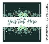 wedding invitation template... | Shutterstock .eps vector #1244186362