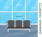 airport waiting room. departure ... | Shutterstock . vector #1244187772