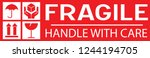 Sticker  Fragile   Handle With...