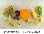 healthy holidays food and diet. ... | Shutterstock . vector #1244196025