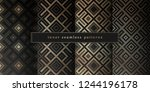 vector set of sacred geometry... | Shutterstock .eps vector #1244196178