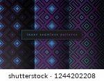 vector set of sacred geometry... | Shutterstock .eps vector #1244202208