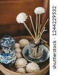 aromatic sticks in portuguese... | Shutterstock . vector #1244229532