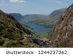 panoramic view from the summit... | Shutterstock . vector #1244237362