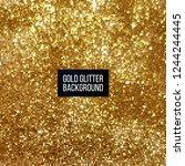 vector gold glitter background  ...   Shutterstock .eps vector #1244244445