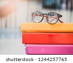 selective focus red eyes... | Shutterstock . vector #1244257765