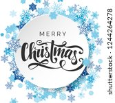 merry christmas vector... | Shutterstock .eps vector #1244264278