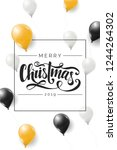 merry christmas 2019vector... | Shutterstock .eps vector #1244264302
