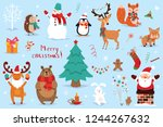 set of christmas and new year... | Shutterstock .eps vector #1244267632