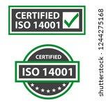 iso 14001 2015 certified... | Shutterstock .eps vector #1244275168